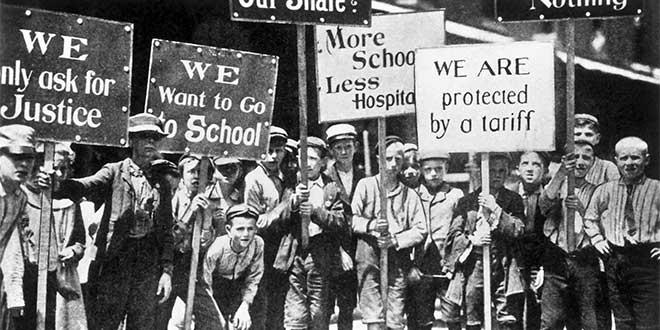 Huelga niños Trabajadores - Las luchas del Día Internacional de los Trabajadores